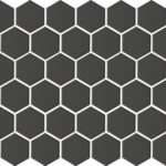BLACK MATT HEXAGON PORC MOSAIC